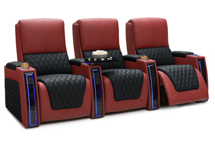 Seatcraft Apex Two-Tone 3 Materials, 15+ Colors, Powered Headrest & Lumbar, Power Recline, Straight or Curved Rows