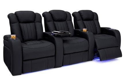 Seatcraft Athenian Big & Tall 400lb Capacity Seating, Top Grain Leather 7000, Powered Headrest & Lumbar, Power Recline, Black or Brown