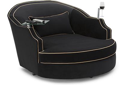 Cavallo Ballad Swivel Cuddle Couch, Bella Fabric, 60+ Colors