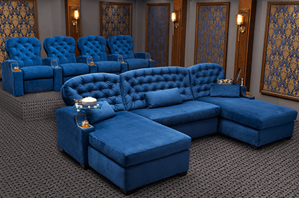 Cavallo Chateau Sofa and Monarch Theater Seats Home Theater Seats