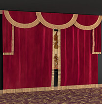 SoundRight Deluxe Open/Close Theater Curtains
