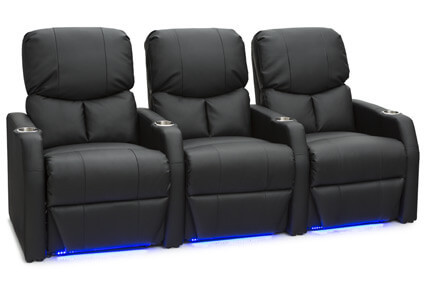 Seatcraft 12006 Leather Gel, Power or Manual Recline, Black