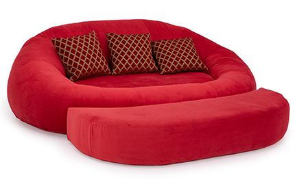 Seatcraft Alto Cuddle Loveseat Fabric, Black, Chocolate, or Red
