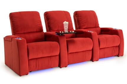 Seatcraft Aspen Fabric, Power Recline, Black, Chocolate, or Red