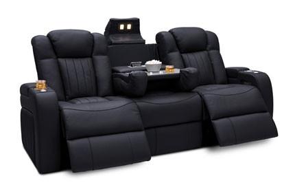 Seatcraft Cavalry Sofa Top Grain Leather 7000, Powered Headrest & Lumbar, Power Recline, Black or Brown