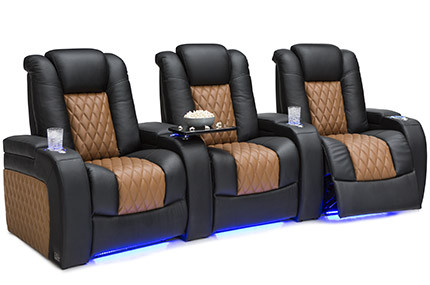 Seatcraft Diamante Two-Tone 4 Materials, 15+ Colors, Powered Headrest, Power Recline, Straight or Curved Rows