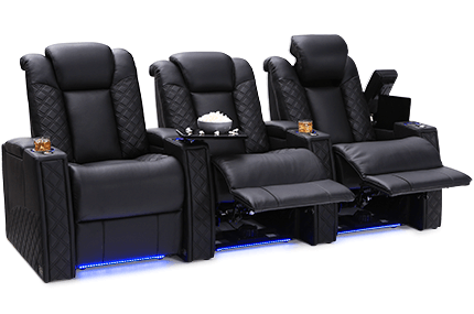 Seatcraft Enigma Top Grain Leather 7000, Powered Headrest & Lumbar, Power Recline, Black or Brown, Straight Rows