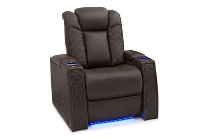Seatcraft Enigma Top Grain Leather 7000, Powered Headrest & Lumbar, Power Recline, Black or Brown, Single Recliner