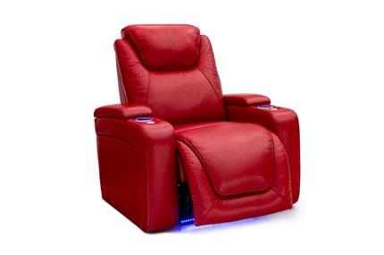 Seatcraft Equinox Top Grain Leather 7000, Powered Headrest & Lumbar, Power Recline, Black, Brown, or Red, Single Recliner
