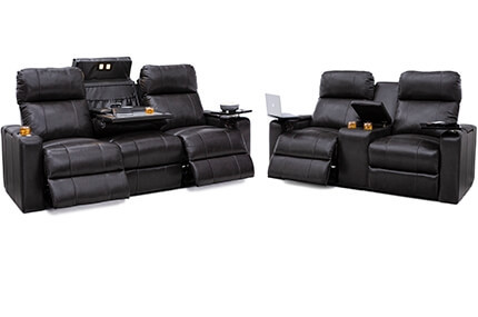 Seatcraft Octavius Sofa & Loveseat Top Grain Leather 7000, Powered Headrest, Powered Lumbar, Power Recline, Black or Brown