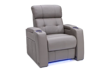 Seatcraft Kodiak Top Grain Leather 7000, Powered Headrest & Lumbar, Power Recline, Black, Brown, Red, or Gray, Single Recliner