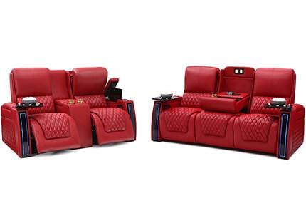 Seatcraft Marathon Sofa & Loveseat 3 Materials, 15+ Colors, Powered Headrest & Lumbar, Power Recline