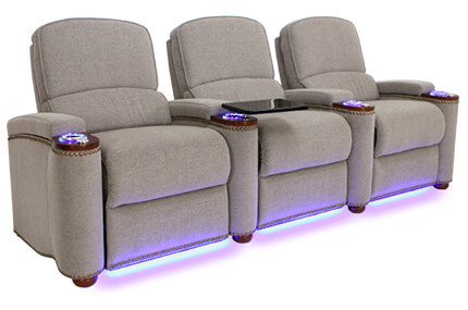 Seatcraft Monroe 4 Materials, 15+ Colors, Power or Manual Recline, Straight or Curved Rows