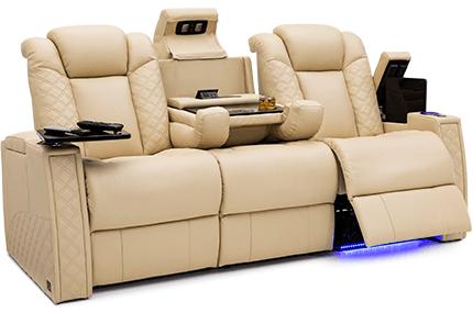 Seatcraft Palladius Sofa 2 Materials, 15+ Colors, Powered Headrest & Lumbar, Power Recline