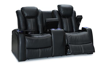 Seatcraft Republic Loveseat Top Grain Leather 7000, Powered Headrest, Power Recline, Black or Brown