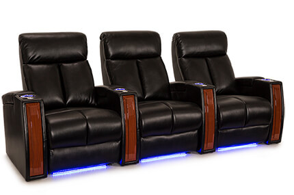 Seatcraft Seville Leather Gel, Powered by SoundShaker, Power Recline, Black, Brown, Gray, or Red