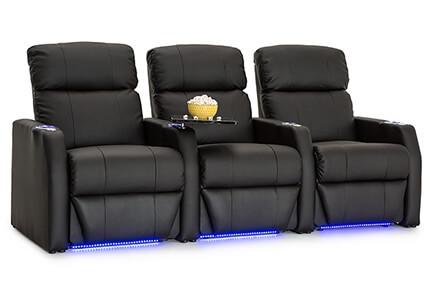 Seatcraft Sienna Top Grain Leather 7000, Power Recline, Black or Brown