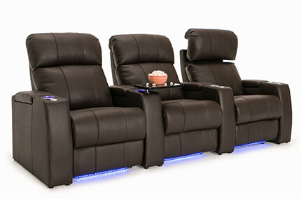 Seatcraft Sonoma 4 Materials, 15+ Colors, Powered Headrest, Power Recline, Straight or Curved Rows
