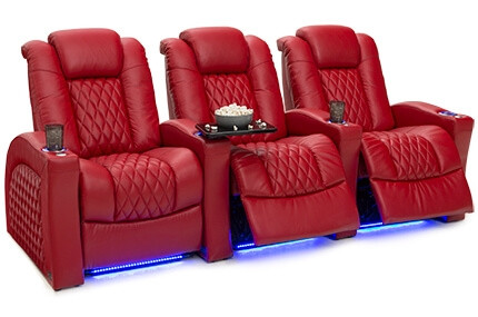 Seatcraft Stanza 4 Materials, 15+ Colors, Powered Headrest, Power Recline, Straight or Curved Rows