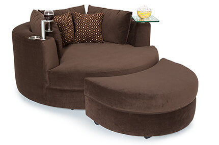 Seatcraft Swivel Cuddle Couch, Bella Fabric, 60+ Colors