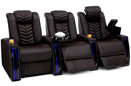 Seatcraft Veloce 3 Materials, 15+ Colors, Powered Headrest & Lumbar, Power Recline, Straight Rows