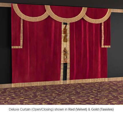 SoundRight Deluxe Open/Close Curtains