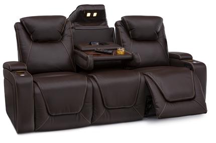 Seatcraft Vienna Sofa Top Grain Leather 7000, Powered Headrest & Lumbar, Power Recline, Black or Brown