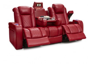 Seatcraft Anthem Sofa Top Grain Leather 7000, Powered Headrest, Power Recline, Black, Brown, or Red