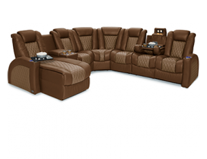 Seatcraft Cadence Two-Tone Multimedia Sectional, 4 Materials, 15+ Colors, Powered Headrest & Lumbar, Power Recline