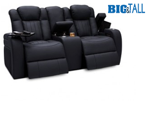 Seatcraft Cavalry Loveseat Top Grain Leather 7000, Powered Headrest & Lumbar, Power Recline, Black or Brown