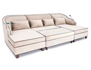 Cavallo Celestian Media Lounge Sofa Bella Fabric, 60+ Colors
