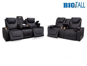 Seatcraft Colosseum Sofa & Loveseat Top Grain Leather 7000, Powered Headrest & Lumbar, Power Recline, Black or Brown