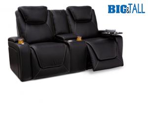 Seatcraft Colosseum Loveseat Top Grain Leather 7000, Powered Headrest & Lumbar, Power Recline, Black or Brown