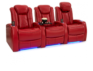 Seatcraft Delta Top Grain Leather 7000, Powered Headrest, Power Recline, Black, Brown, or Red
