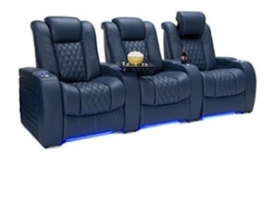 Seatcraft Diamante 4 Materials, 15+ Colors, Powered Headrest, Power Recline, Straight or Curved Rows