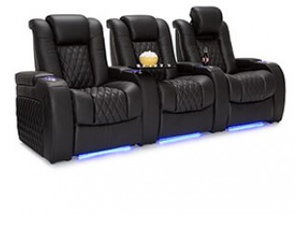 Seatcraft Diamante Top Grain Leather 7000, Powered Headrest, Power Recline, Black or Brown