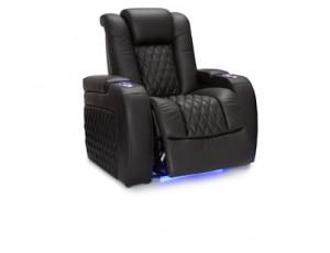 Seatcraft Diamante Top Grain Leather 7000, Powered Headrest, Power Recline, Black or Brown, Single Recliner