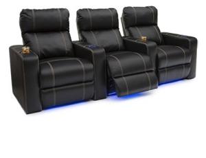 Seatcraft Dynasty Leather Gel, Power Recline, Black