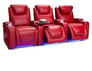 Seatcraft Equinox Top Grain Leather 7000, Powered Headrest & Lumbar, Power Recline, Black, Brown, or Red