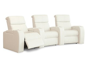 Palliser Flicks 41416 11 Materials, 190+ Colors, Power or Manual Recline, Straight or Curved Rows