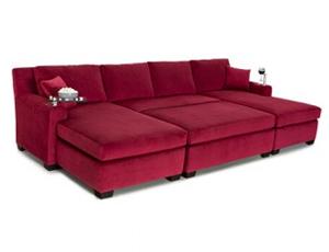 Cavallo Fortuna Media Lounge Sofa Bella Fabric, 60+ Colors