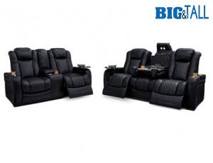 Seatcraft Headline Sofa & Loveseat Top Grain Leather 7000, Powered Headrest, Power Recline, Black, Brown, or Red