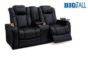 Seatcraft Headline Loveseat Top Grain Leather 7000, Powered Headrest, Power Recline, Black, Brown, or Red