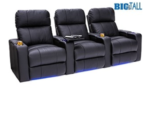 Seatcraft Julius Big & Tall 400lb Capacity Seating, Top Grain Leather 7000, Powered Headrest, Power Recline, Black or Brown