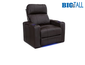 Seatcraft Julius Big & Tall 400lb Capacity Seating, Top Grain Leather 7000, Powered Headrest, Power Recline, Black or Brown, Single Recliner
