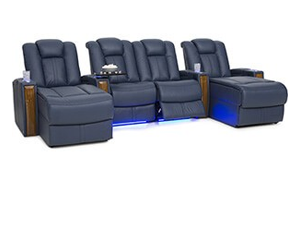 Seatcraft Monaco Chaise 4 Materials, 15+ Colors, Powered Headrest, Power Recline, Straight Rows