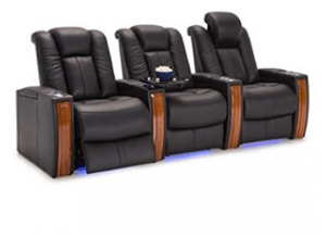 Seatcraft Monaco 4 Materials, 15+ Colors, Powered Headrest, Power Recline, Straight or Curved Rows
