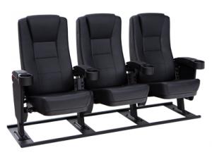 Seatcraft Montago Free-Standing Base Movie Seats, Vinyl, Black