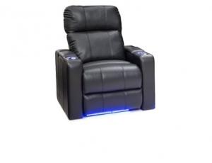 Seatcraft Monterey Top Grain Leather 7000, Powered Headrest, Power Recline, Black, Brown, or Gray, Single Recliner