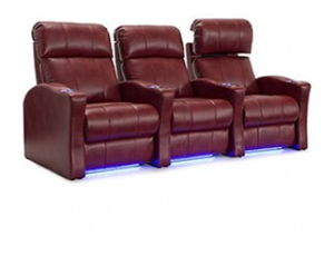 Seatcraft Napa 4 Materials, 15+ Colors, Powered Headrest, Power Recline, Straight or Curved Rows